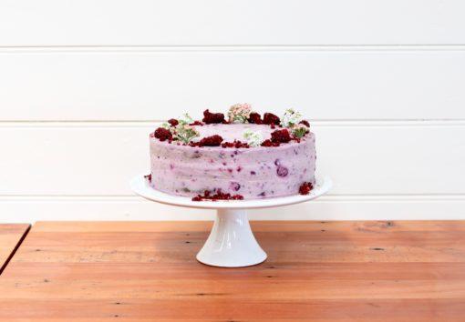 crushed berry chocolate mudcake