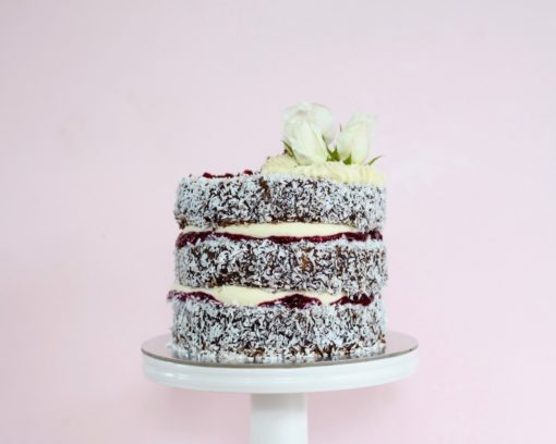 Lamington layer cake picture