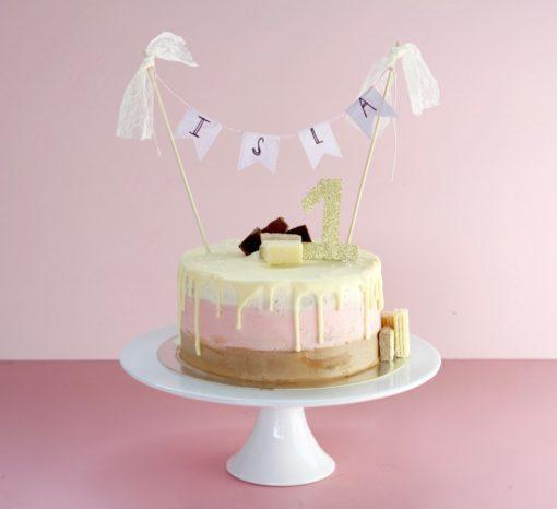 Ombre drizzle cake