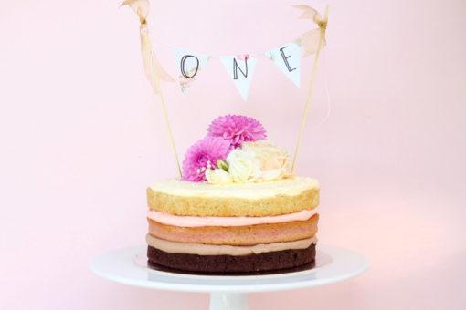 Neapolitan Naked Cake