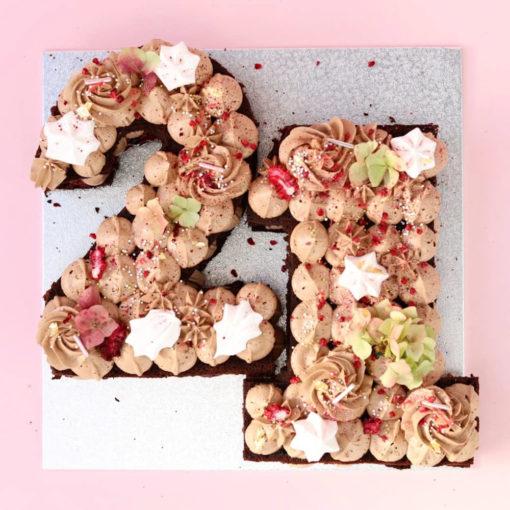 number 21 cake