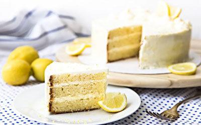 LEMON LAYER CAKE WITH MASCARPONE CREAM FROSTING