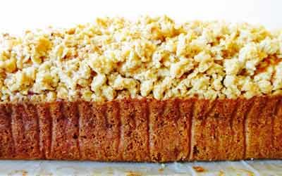 SPICED PUMPKIN BREAD WITH CRUMBLE TOPPING