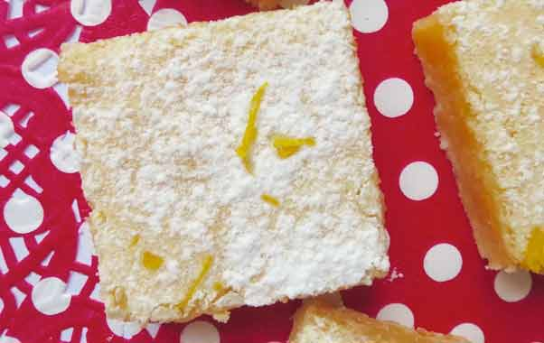 STICKY LEMON BARS