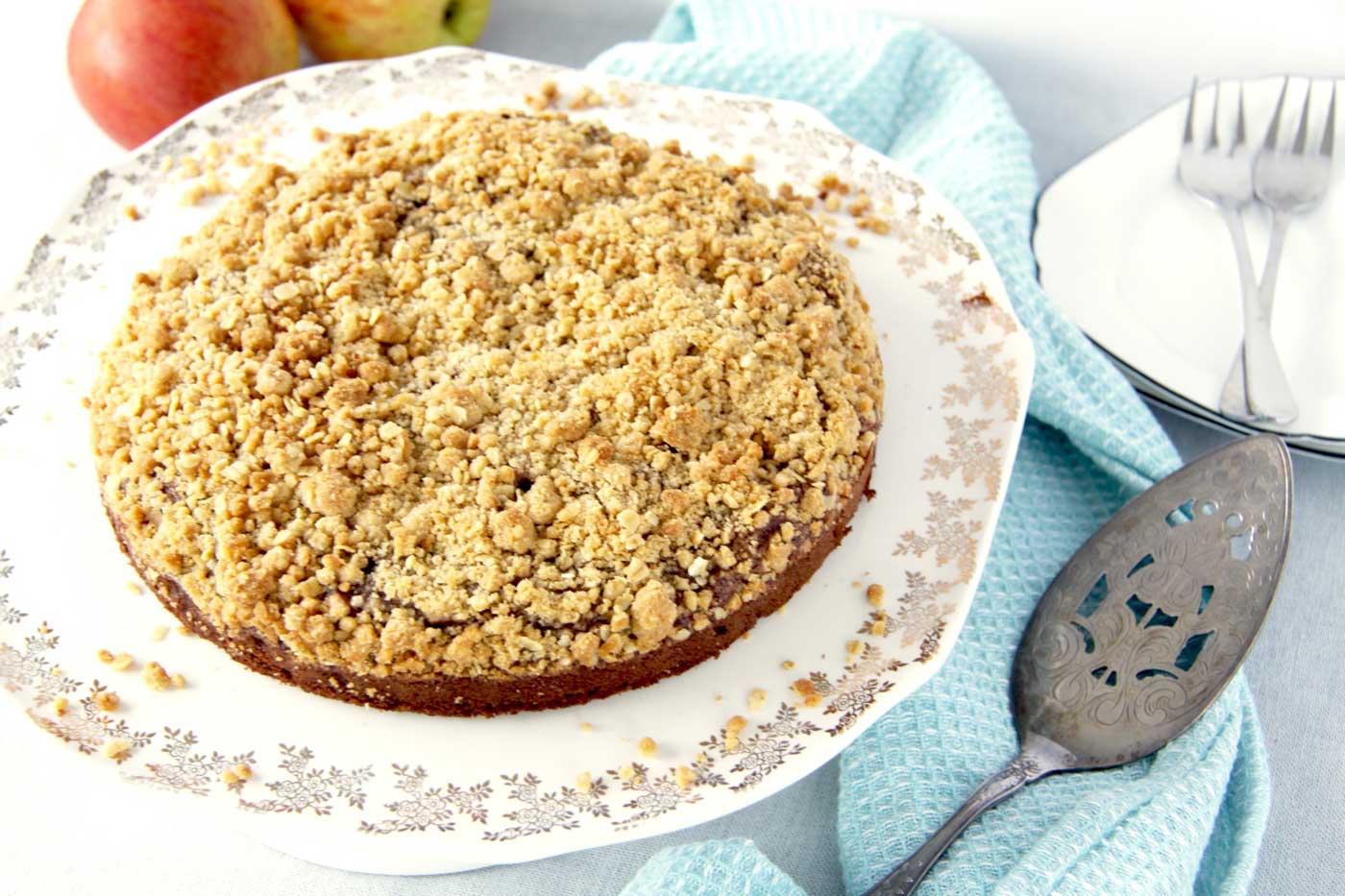 Chocolate Apple Crumble Cake What Sarah Bakes
