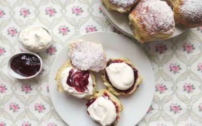 CREAM TEA AND LEMONADE SCONES