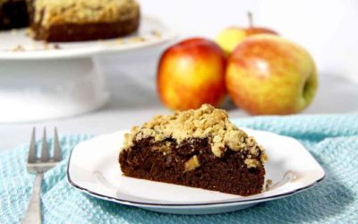 CHOCOLATE APPLE CRUMBLE CAKE