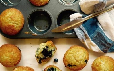 Cafe Style Blueberry Lemon Muffins