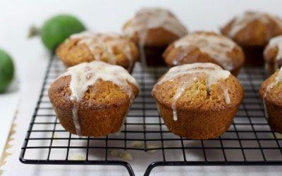 Glazed Feijoa Coconut Muffins